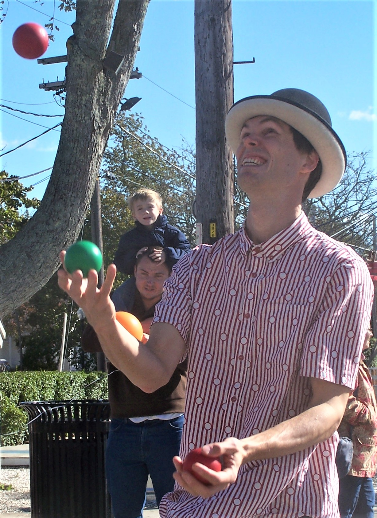 Trevor the Juggler will amaze and delight at Sunday's Hyannis Open Streets